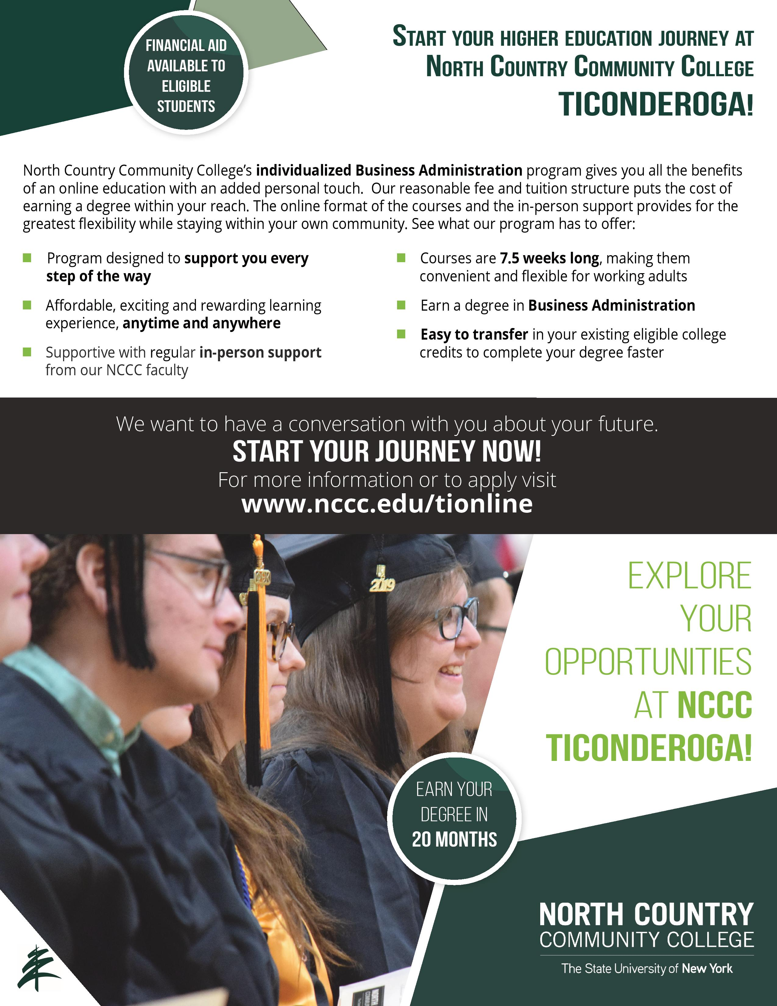 NCCC's new individualized Business Administration program