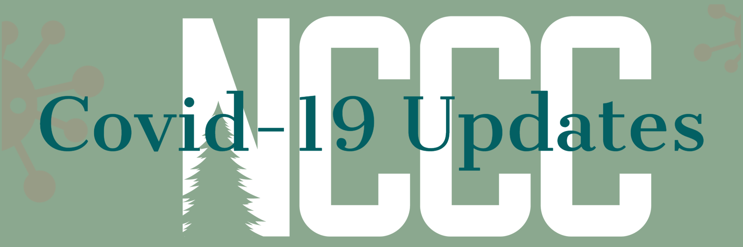 An NCCC logo with COVID Updates written across it