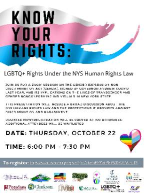 LGBTQ+ Rights Under the NYS Human Rights Session