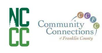 NCCC logo adjacent to the Community Connections logo