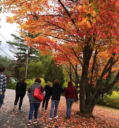 A campus tour in the fall at NCCC.