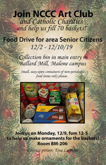 Food Drive at NCCC Malone