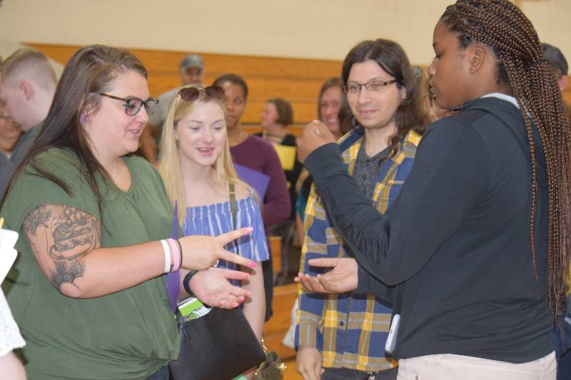 NCCC students at Fall '19 Orientation