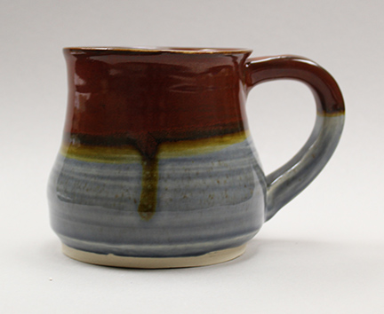 Hand-made pottery created during a pottery class at North Country Community College