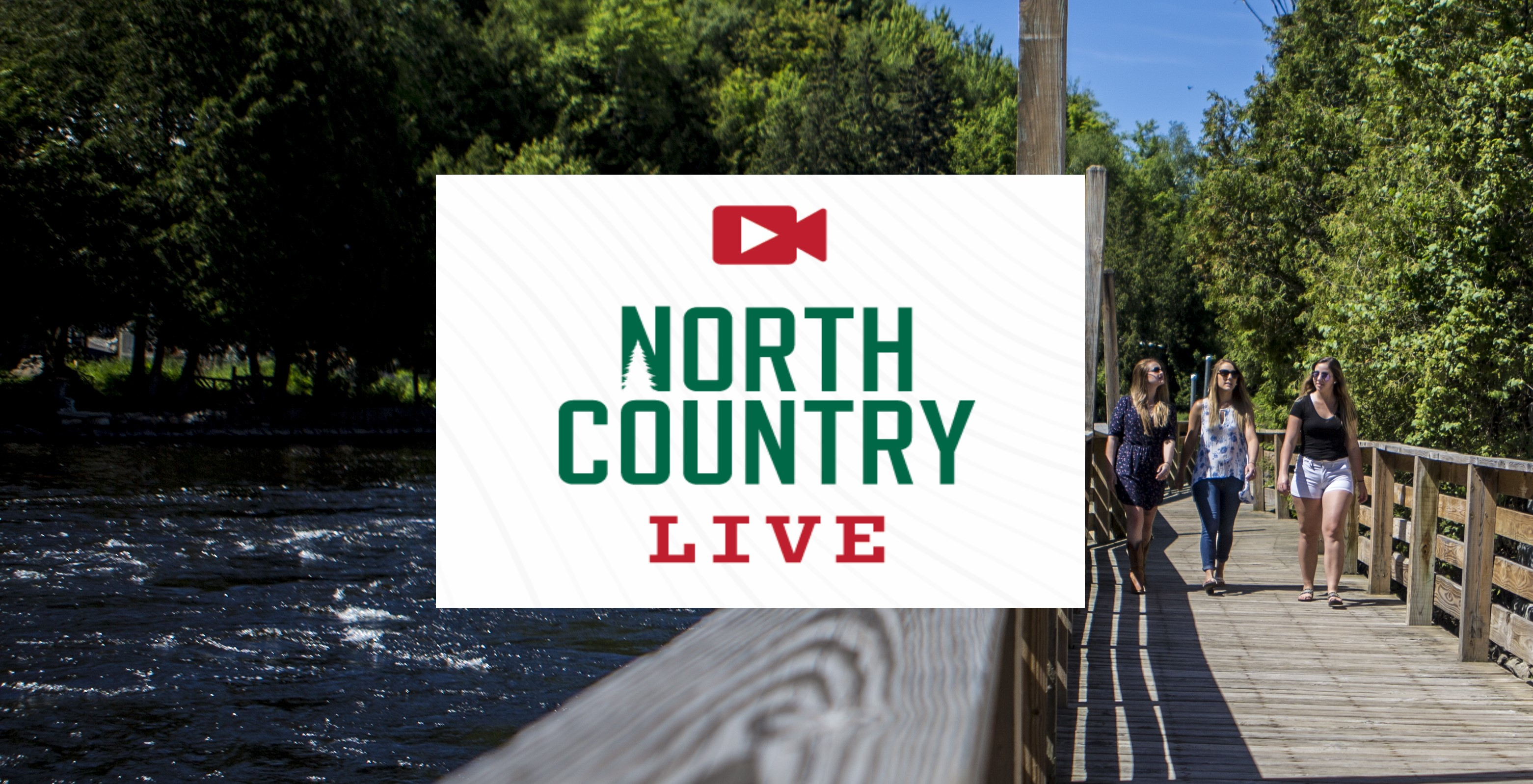 North Country Live logo set against a picture of the Saranac River.