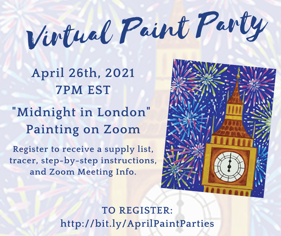 Virtual Paint Party: Midnight in London