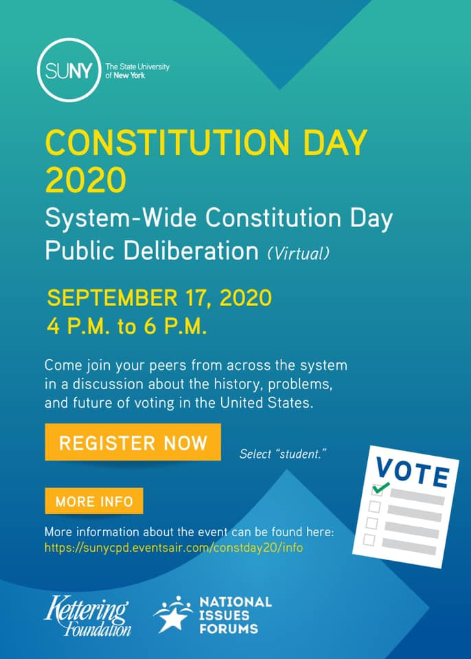SUNY Constitution Day Discussion