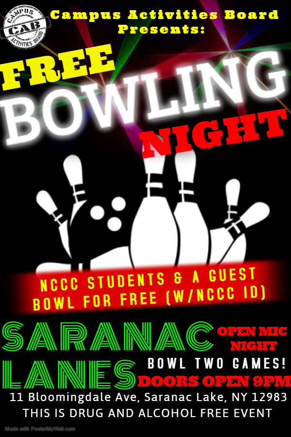 NCCC Free Bowling Nights