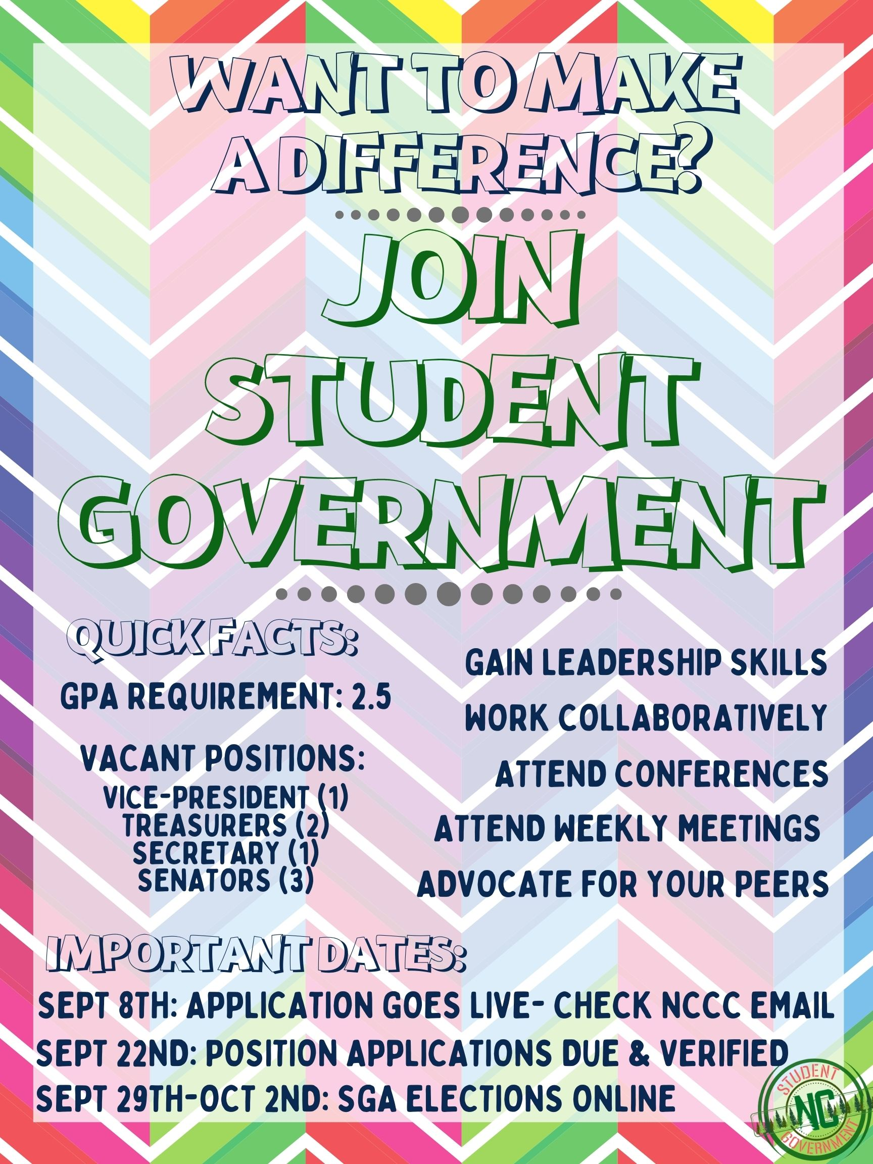 Student Government & Student Trustee Applications Due