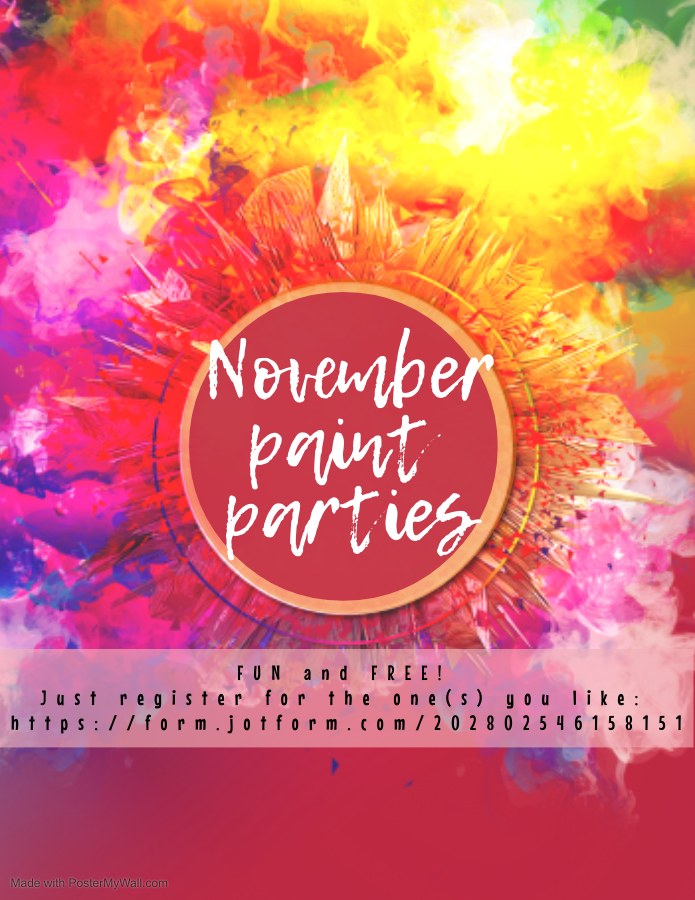 November 2020 Paint Parties