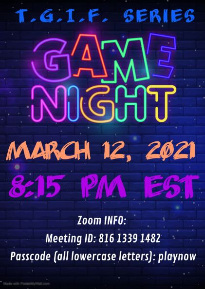 T.G.I.F. Game Night Series