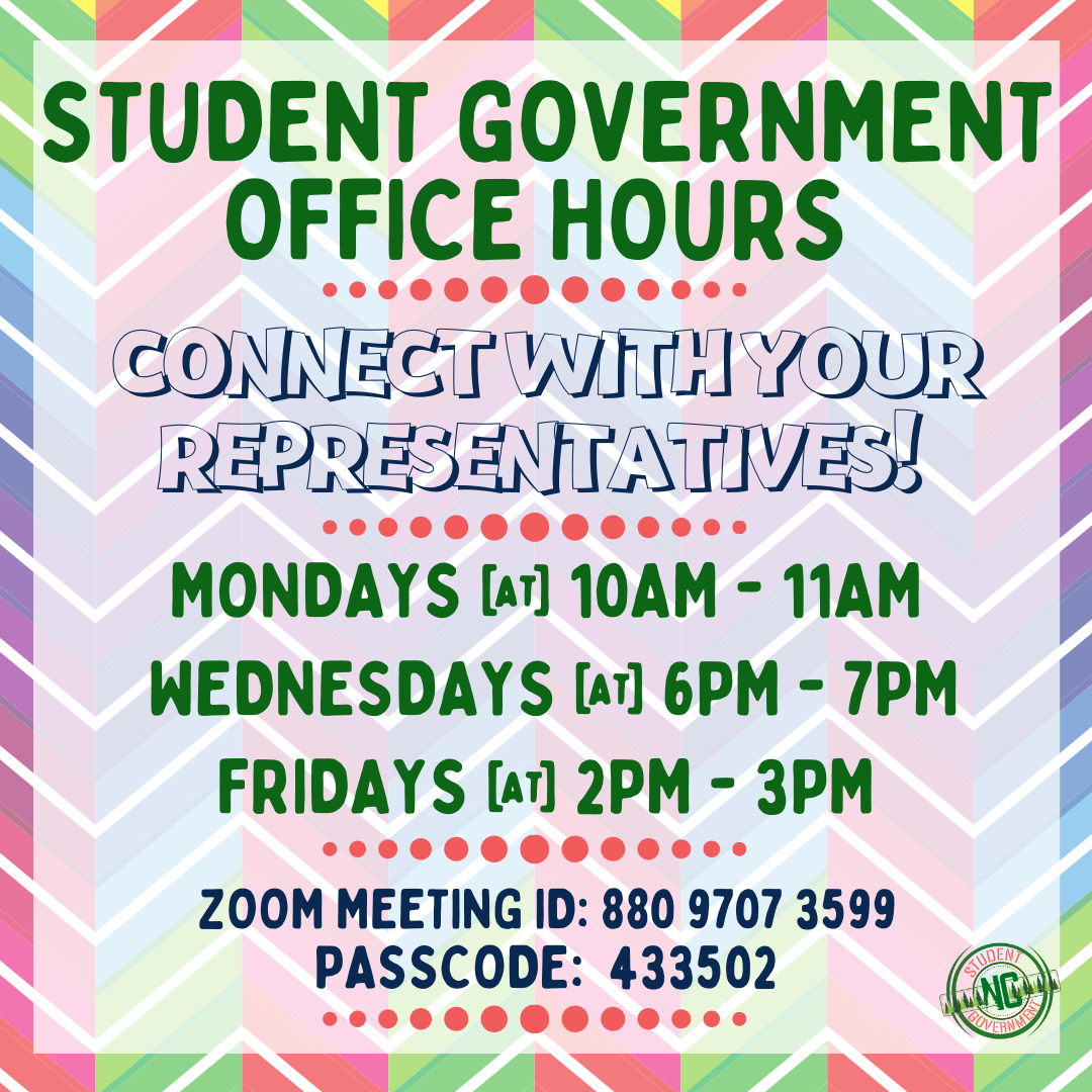 Student Government Rep Office Hours