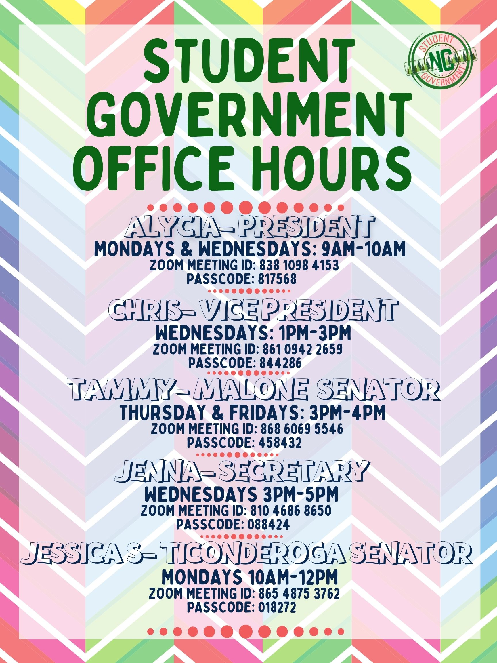 Student Government Open Office Hours