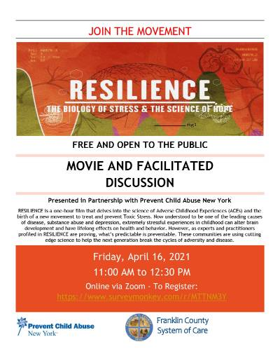 A flyer for the film screening